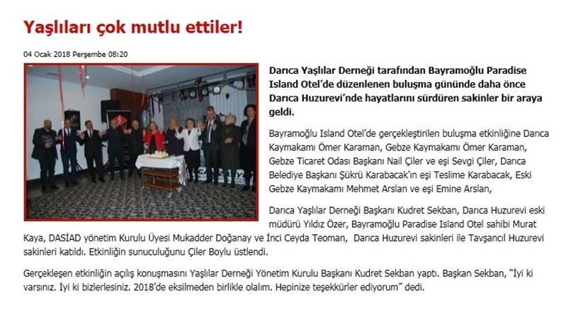 04.01.2018 DARICA GAZETESİ